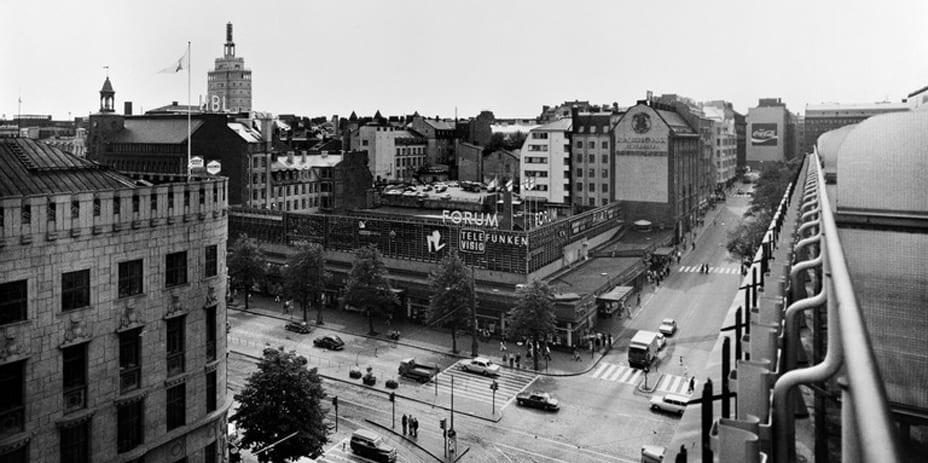 Forum on Helsingin keskustan ensimmäinen kauppakeskus. Kuva vuodelta 1972.