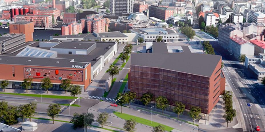 Ratinan toimistotalo sijaitsee kauppakeskuksen vieressä. Coworking-yhteisö MOW Supernova toimii samassa korttelissa.